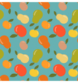 Seamless apple and pear pattern vector image