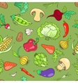 Seamless pattern with vegetables green vector image vector image