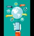 Go green global mobile app concept vector image