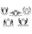 Royal coat of arms templates vector image vector image