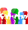 People protest background vector image