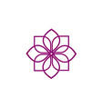 abstract flower decorative beauty logo vector image vector image