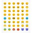 Set of emoticons emoji isolated vector image