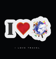 love travel icon vector image