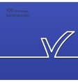 White check mark symbol and icon for approved vector image
