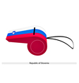 A Whistle of The Republic of Slovenia vector image