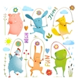 Animal Set Jumping Rope Colorful Collection vector image