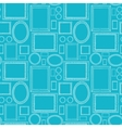 Blue blank picture frames seamless pattern vector image
