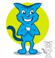 Blue Cat Cartoon vector image