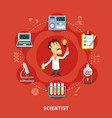 chemical scientist inventor vector image