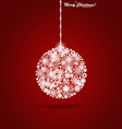 Christmas ball with snowflakes vector image