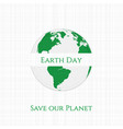 Earth Day Planet textile Banner vector image