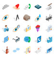 engineers icons set isometric style vector image