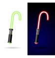 Light saber Red and green lightsaber vector image