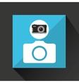 retro camera photographic photo sign vector image