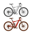 sports high-speed bicycles vector image