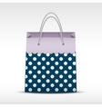 Vintage shopping bag in retro polka dots vector image