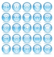 Shine Glass Icons vector image