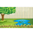 A tree a pond and a beautiful landscape vector image vector image