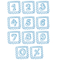 Numbers inside the squares vector image vector image