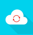 Cloud technology flat icon vector image