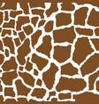 giraffe skin seamless pattern african animals vector image
