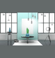 realistic loft interior in light tones vector image