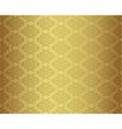 Luxury seamless golden floral wallpaper vector image vector image