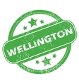 Wellington green stamp vector image