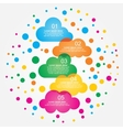 Abstract speech bubbles in the shape of clouds vector image vector image