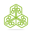 Logo Go Green Leaf Greening Symbol Icon vector image