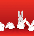 Catch the moment Rabbits vector image