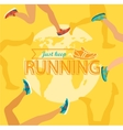 Summer running marathon vector image