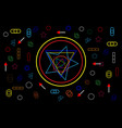abstract concept future shapes geometry on black vector image