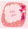 baby girl photo frame vector image