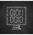 computer screen with binary icon vector image