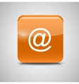 Glass Mail Button Icon vector image