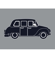 silhouette taxi car contemporary side view vector image