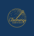the logo of the company on cleaning of rooms vector image