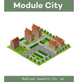 historic educational buildings vector image