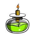 color sketch of spirit lamp chemical burner vector image