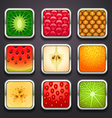 background for the app icons-fruits part vector image vector image