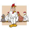 ruler of the roost saying cartoon vector image