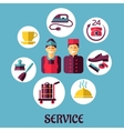Room service flat design concept vector image