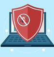 Computer data protection and secure concept with vector image