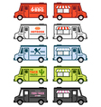 Food trucks vector image