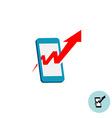 Mobile promotion marketing logo Smartphone shape vector image
