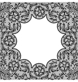Vintage lace frame ornamental flowers texture vector image vector image
