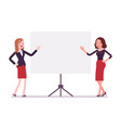 businesswomen at the presentation vector image