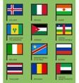 Flags flat set-08 vector image